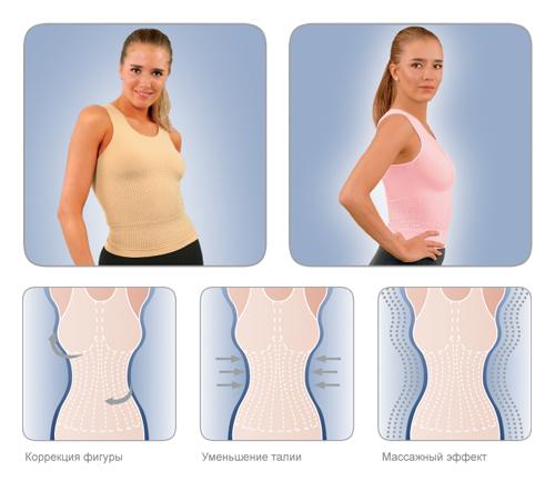 артемида майка фитнес с массажным эффектом